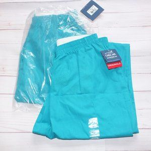 LOT OF 2 CHEROKEE SCRUBS TAPERED CARGO S TEAL BLUE